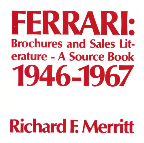 9780962652301: Ferrari Brochures and Sales Literature 1968-1989