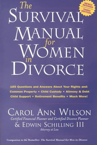 9780962679032: The Survival Manual for Women in Divorce: 185 Questions and Answers About Your Rights