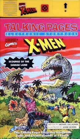 9780962700170: Marvel Comics X-Men: Scourge of the Savage Land (Talking Pages Electronic Storybook)