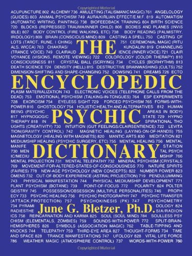 The Encyclopedic Psychic Dictionary: Bletzer, June G.