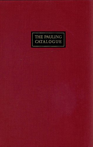 9780962908200: The Pauling Catalogue: Ava Helen & Linus Pauling Papers at Oregon State University