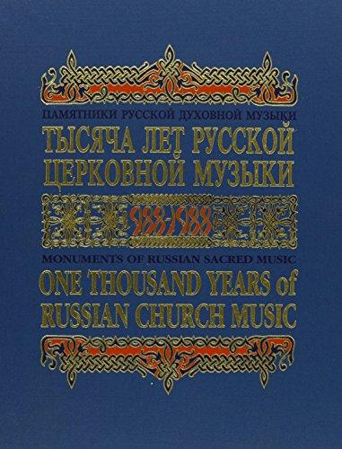 One Thousand Years of Russian Church Music,: Vladimir Morosan, Vladimir