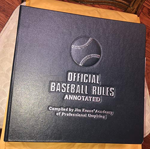9780963062604: Official Baseball Rules Annotated