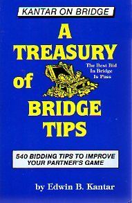 9780963097002: A Treasury of Bridge Tips: 540 Bidding Tips to Improve Your Partner's Game (Kantar on Bridge Series)