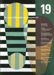 The Journal of Decorative and Propaganda Arts,: Decorative, Journal of;