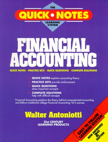 9780963277220: Financial Accounting (The Quick Notes Learning System)