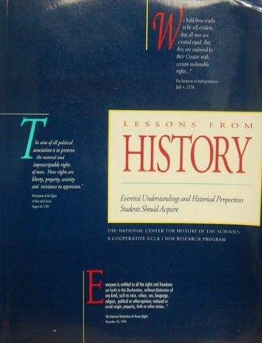 9780963321800: Lessons from History Essential Understanding and Historical Perspective Students Should Acquire