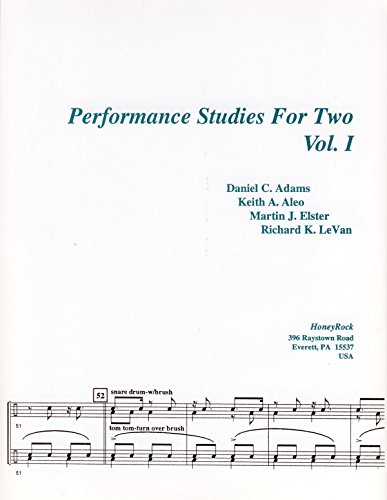 Performance Studies For Two, Vol. I, for Snare Drum Duo (0963406051) by Adams; Aleo; Elster; LeVan