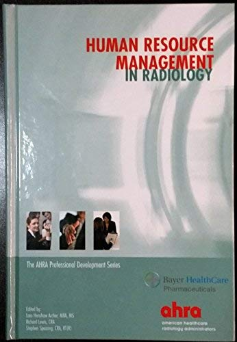 9780963417633: Human Resource Management in Radiology