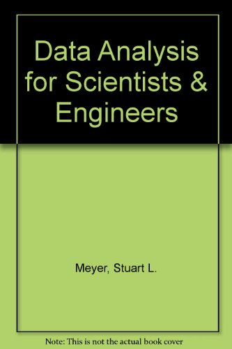 9780963502711: Data Analysis for Scientists & Engineers
