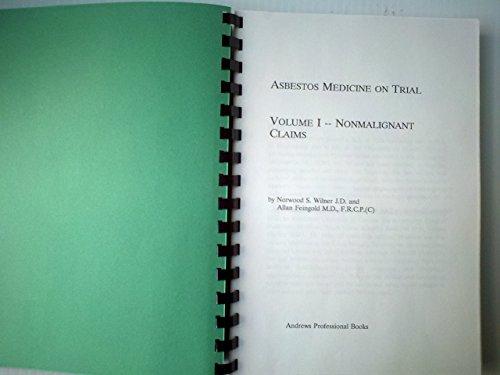 9780963624666: Asbestos Medicine on Trial--A Medical/Legal Outline