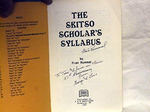 The skitso scholars syllabus: Rummel, J. Francis