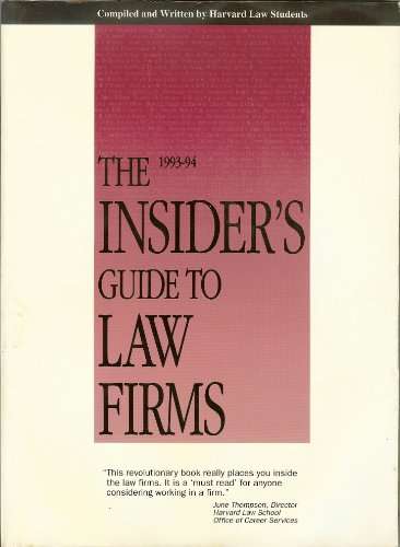 Insiders Guide to Law Firms: Blonds