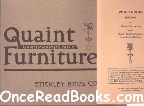 9780963877109: 1912 Quaint Furniture Catalog