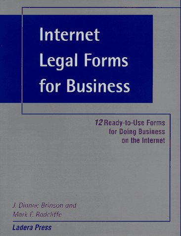 9780963917348: Internet Legal Forms for Business