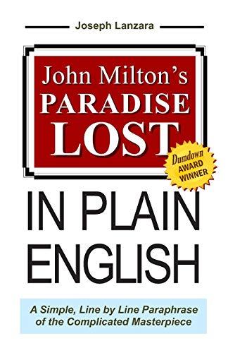John Milton's Paradise Lost In Plain English: Lanzara, Joseph