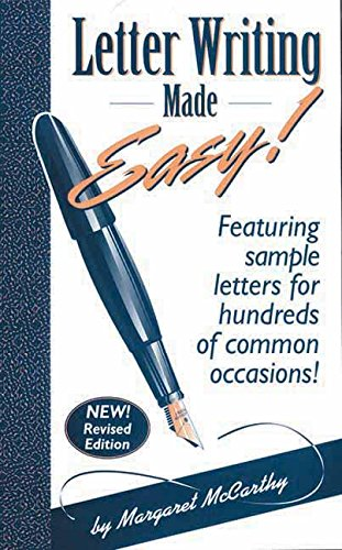 9780963994622: Letter Writing Made Easy!: Featuring Sample Letters for Hundreds of Common Occasions: Vol 1
