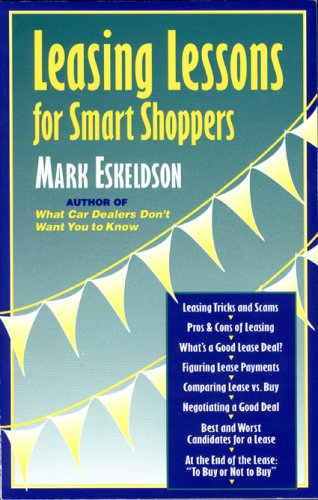 9780964056046: Leasing Lessons for Smart Shoppers