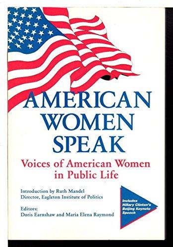 9780964057425: American Women Speak: Voices of American Women in Public Life (Women Speak Series)