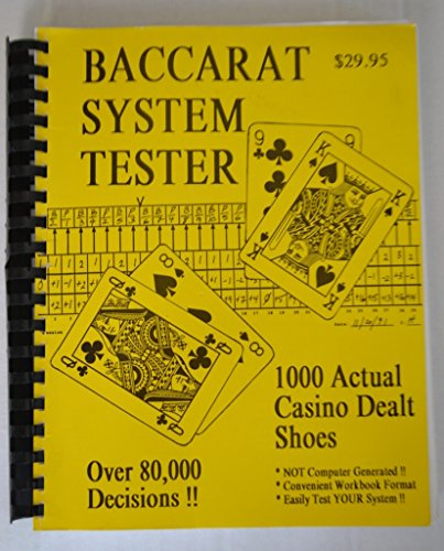 9780964059535: Baccarat System Tester: 1000 Actual Casino Dealt Shoes - Over 80,000 Decisions!!