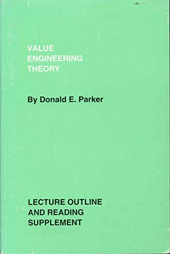 9780964105218: Value Engineering Theory With Lecture Outline and Reading Supplement