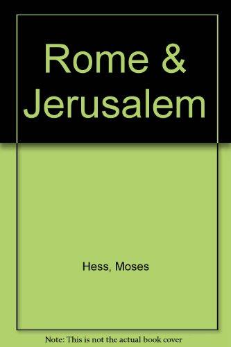 9780964246508: Rome & Jerusalem
