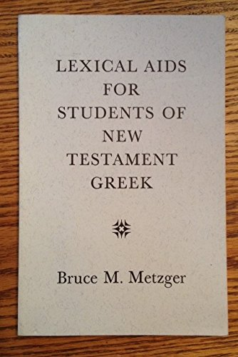9780964489103: Lexical Aids for Students of New Testament Greek