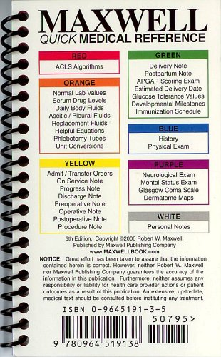9780964519138: Maxwell Quick Medical Reference