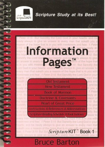 9780964531413: Information Pages: Scripture Kit Book 1
