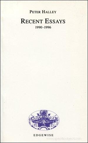 Recent essays, 1990-1996 (EP): Halley, Peter
