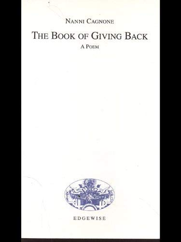 9780964646643: The Book of Giving Back: A Poem (English and Italian Edition)