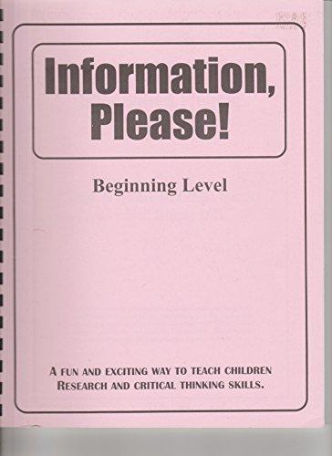 9780964668560: Information, Please! Beginning Level 1 (Grades K-4)
