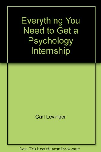 Everything You Need to Get a Psychology: Carl Levinger, Itzchack