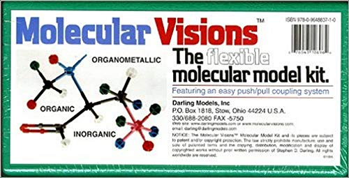 9780964883710: Molecular Visions (Organic, Inorganic, Organometallic) Molecular Model Kit #1 by Darling Models to accompany Organic Chemistry