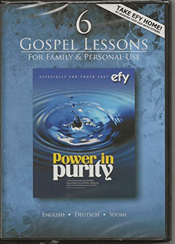 9780964886612: Power in Purity 6 Gospel Lessons for Family and Personal Use - Especially for Youth 2007