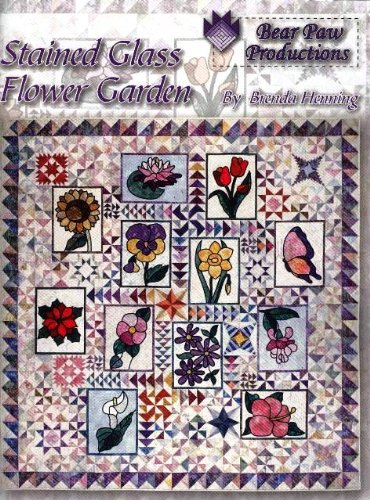 9780964887831: Stained glass flower garden