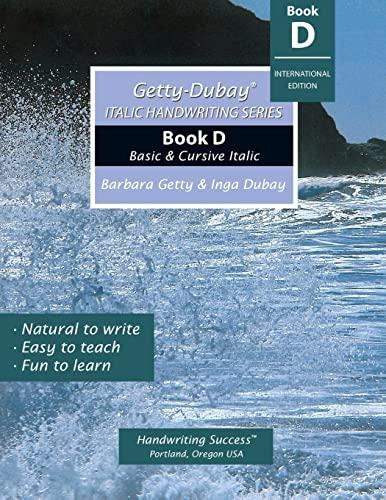 Italic Handwriting Series Instruction Manual: Getty, Barbara