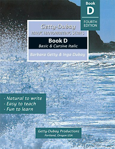 9780964921573: Italic Handwriting Series Book D