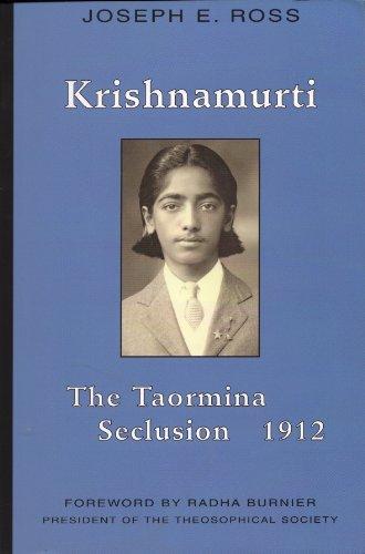 9780964924789: Krishnamurti: The Taormina Seclusion 1912
