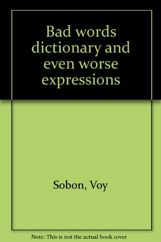 Bad words dictionary and even worse expressions: Sobon, Voy