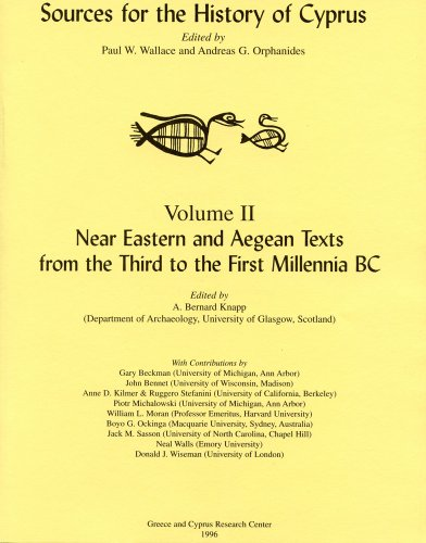 9780965170420: Near Eastern and Aegean Texts from the Third to the First Millennia BC (Sources for the History of Cyprus)