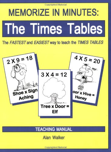 9780965176965: Memorize in Minutes: The Times Tables, Teaching Manual