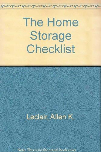 9780965307819: The Home Storage Checklist