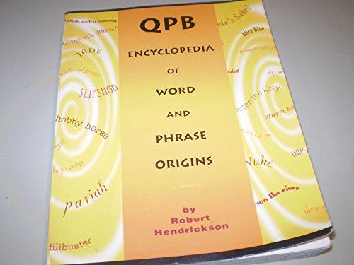 9780965379458: QPB encyclopedia of word and phrase origins