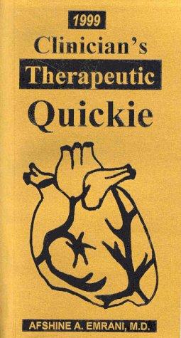 1999 Clinician's Therapeutic Quickie: Emrani M.D.