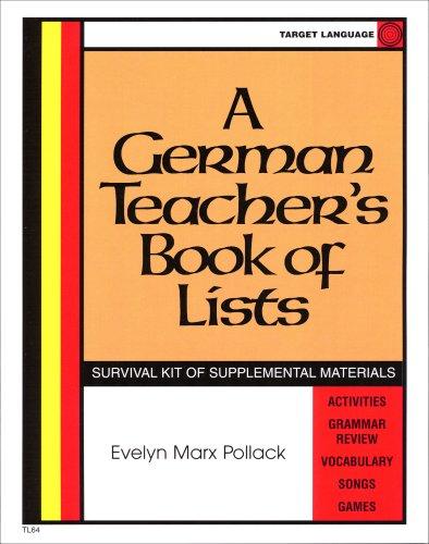 9780965505208: German Teacher's Book Of Lists (German Edition)
