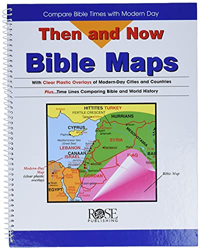 9780965508209: Then and Now Bible Maps: Compare Bible Times with Modern Day