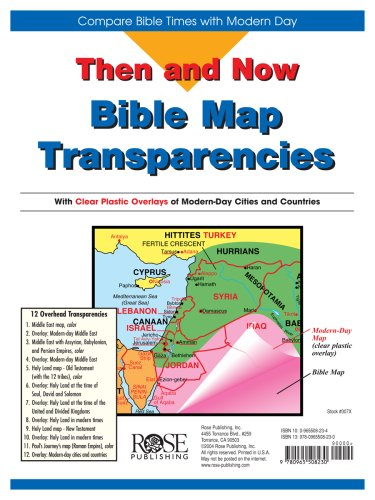 9780965508230: Then and Now Bible Maps: Compare Bible Times with Modern Day - Overhead Transparencies (Then & Now Bible Maps at Your Fingertips)