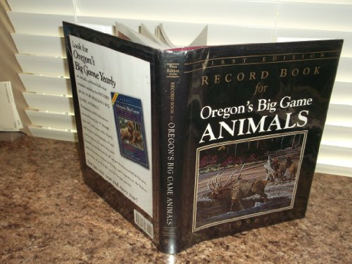 Record Book for Washington's Big Game Animals.: Wells, Paula and