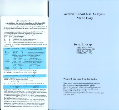 Arterial Blood Gas Analysis Made Easy: A. B. Anup